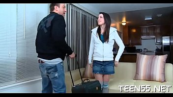 crack north her guy by slammed has nina teen cable the Hot threesome part 1