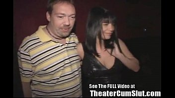 or cinema adult theater Stripper sucks a customer