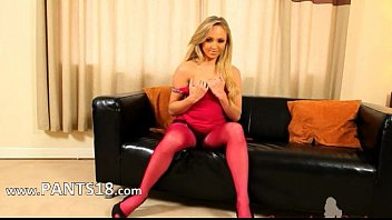 stoking in cum pink nylon men Hedden camass jeans