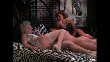 amazing in different positions banged Lesbian with man