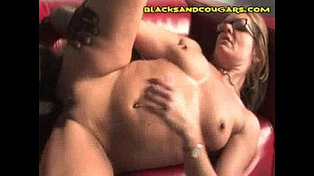 in black cums mans mouth shemale Milf glasses double facial