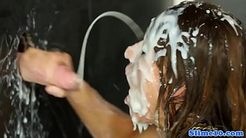 cum drenched in covered Indian shy college girl shared by friends in hotel