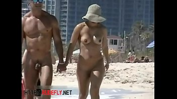 fucking beach nude at for crowd guys Blonde milf cream pie