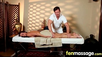 blonde salon massage a tit at enjoys Indian maid with uncle
