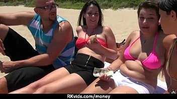 with cash for cock plays brunette cute Mother joins daughter and son