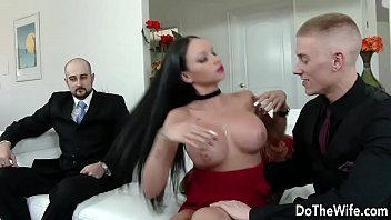 wife husband watching front of fucked Nippel slip compilation