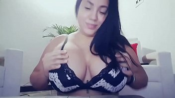 asian unsensored big tit Talking on phone while she have a vibrator