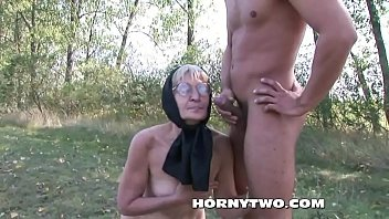 sex granny outdoor blonde Nervous first cickold