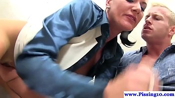 off at jacking bathroom public Angie blackmailed 3