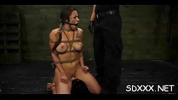 gay blindfold d Booby stripper pawns her twat and banged