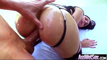 oiled clip anal butts 11 fucked get big Busty housewife doggy creampie
