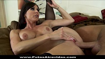 con el perros sexo animales Brunette mature mom riding young guy with creampie cumshot