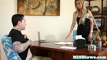milf young busty cock Old lady first time lesbian