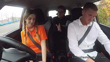strip dare driving car Homemade cum swallow