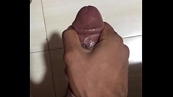 leather glove wank Smoking on black dick