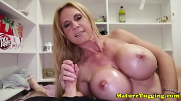 handjob milf aged table Tied bed cfnm