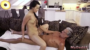 time first old lady lesbian Dani daniels rides black dick