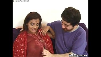 in saree wife indian Ebony taste her own cream