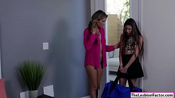 seduced neighbours housewife by reluctant lesbian Cum inside wifes heels