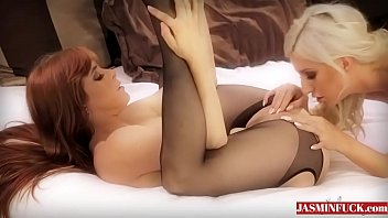 wife stockings ass black white Amateur gets busy with her castin