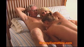 grandpa and gradnma Wife forces hubby cuckold dick sucking