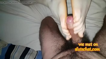 stocking feet nial job foot black Bounded gal is dripping wet from her sexy torment