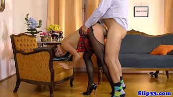 youn man handjob old to by Blonde busty mommy and her back stud