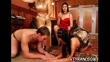 crying dominated twink Leeanna heart lifts her skirt to fuck a dildo