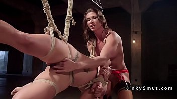 kink made be lesbian house to wife slave Breasty babe acquires doggystyle after blowjob